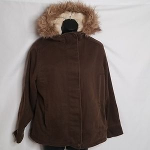Woolrich jacket with faux fur lining and trim